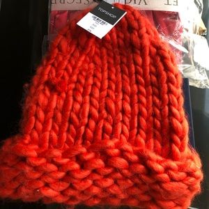 Brand new Topshop kit hat red